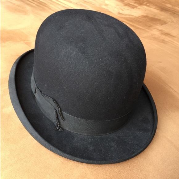 Vintage Stetson Bowler Hat w  Ribbon 39d343e4b2e